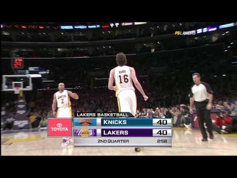 #38 vs New York Knicks - Pau Gasol Video Project 2011