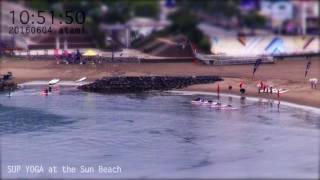 アタミラプス:サンビーチ SUPヨガ 2016年6月4日