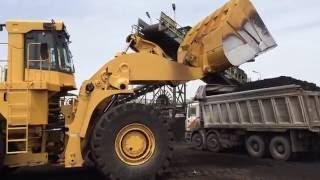 Caterpillar 990 F Loader - Loading Coal On Trucks