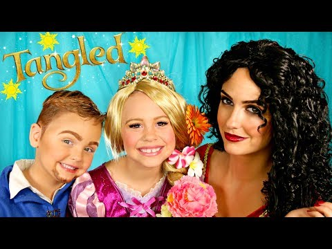 Tangled Makeup and Costumes Rapunzel Mother Gothel and Flynn Rider