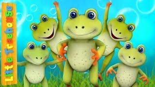 Five Little Speckled Frogs | Kindergarten Nursery Rhymes for Babies