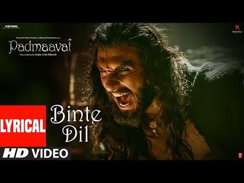 Xxx Mp4 Padmaavat Binte Dil Lyrical Arijit Singh Deepika Padukone Shahid Kapoor Ranveer Singh 3gp Sex
