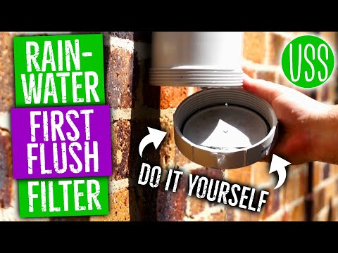 How to make a First Flush Filter Rainwater Collection System Part I