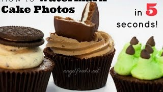 How to Watermark Cake Photos in 5 Seconds