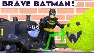 Batman Stop Motion Toy Story - Thomas The Tank Engine Scary Pet Spider Mashems Joker In Jail  TT4U