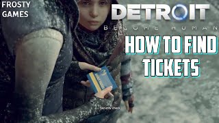Detroit Become Human How to Find Tickets