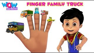 Finger Family Truck Song With Vir And Imli   Popular Vehicle Song for Kids   WowKidz Rhymes