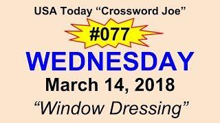 "#077 USA Today Crossword ""Window Dressing"" March 14, 2018"
