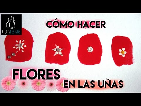 Cómo hacer flores en las uñas how to draw flowers on your nails