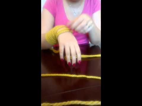 آموزش بافت شال گردن به وسیله دست.بخش ۱