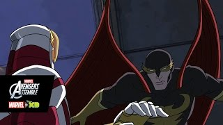 Avengers tussle with Nighthawk in this clip from this week's all-new 'Marvel's Avengers Assemble'