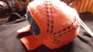 طاقية تريكو مع لفحة للاطفال والبيبي بطريقة جديدة knitting hat with ears