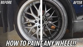 How to SPRAY PAINT the Wheels on your car! (DIY REPAIR?)
