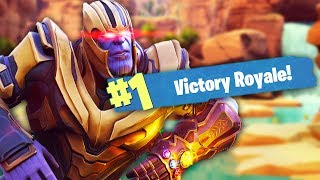 OWNING THANOS IN FORTNITE | Fortnite Battle Royale (Thanos Mode)