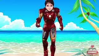 Wrong Dress Shiva ANTV Ironman Ladybug Spiderman Ultraman Ribut Finger Family Nursery Rhyme for Kids