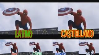 Capitan America Civil War trailer 2: Diferentes idiomas Spider-man