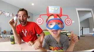 FATHER & SON PLAY DUNK HAT! / Don't get Wet!!!
