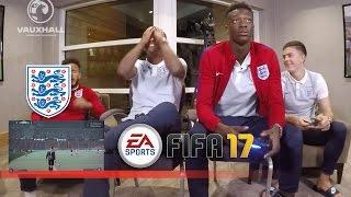 Tammy Abraham v Demarai Gray - England U21s play FIFA 17 | FATV Challenge