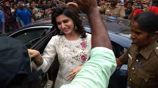Samantha Mobbed by Fans in Madhurai - Filmyfocus.com