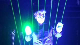 Jean Michel Jarre London 02 Arena. Laser Harp. 7th October 2016