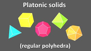 3d shapes for kids children to learn. Platonic solids - regular polyhedra Educational video cartoon