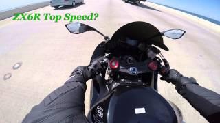 ZX6R Top Speed and Wheelie Practice 675