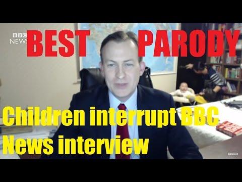 Children interrupt BBC News interview Best Parody