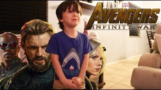 My 4 Year Old Reacts to the Avengers Infinity War Trailer