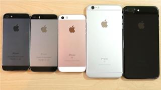 iPhone 5 vs iPhone 5S vs iPhone SE vs iPhone 6S Plus vs iPhone 7 Plus