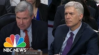 SCOTUS Nominee Neil Gorsuch Confronted About 'Dark Money' Spent To Deny Obama Pick | NBC News