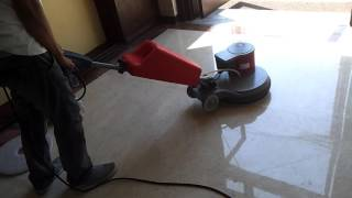 Klenco Cyclone S510 single disc polisher for Marble Crystalization