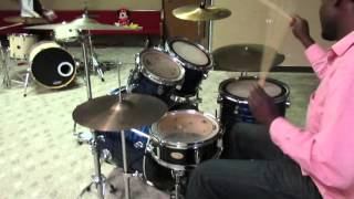 16th note linear drum fill- drum lesson