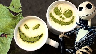 How to Make LATTE ART from The Nightmare Before Christmas!