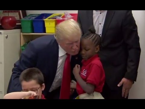 Trump Visits First Grade Classroom