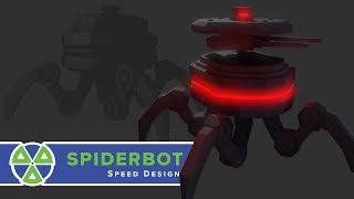 Animated Spiderbot Speed Model | Blender / Akeytsu