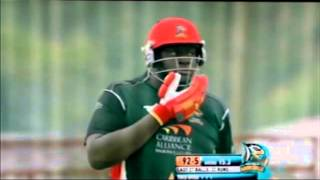Andre Russell bowling vs Antigua