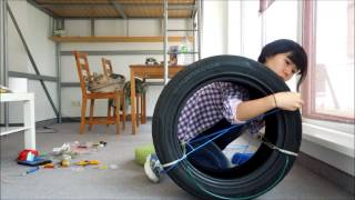 Re-Use.TV - Chair made of old car tire