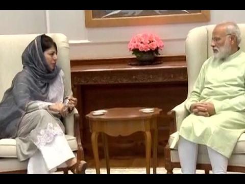 Xxx Mp4 Jammu And Kashmir CM Mehbooba Mufti Meets PM Narendra Modi In Delhi 3gp Sex