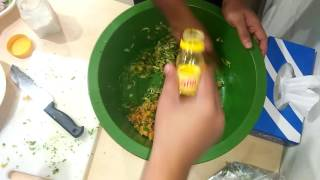 Street Food  Jhal-Muri mixer (votta) in Bangladesh, Dhaka