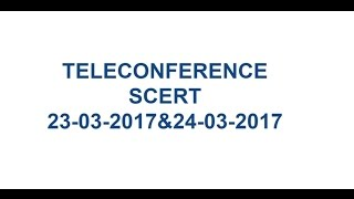 MANA TV AMARAVATI II SCERT, A.P – Tele Conference  II 23-03-2017