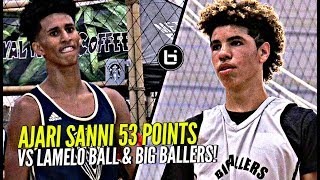 Ajare Sanni COOKS LaMelo Ball w/ 53 POINTS!! LaMelo Respond w/ CLUTCH Performance! Big Ballers Vs SH