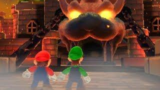 Super Mario 3D Land - All Final Castles & Airships