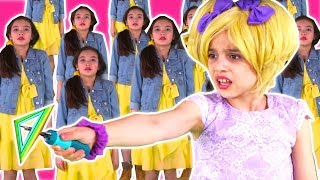 PRINCESS CLONES GO WRONG! 🤖 Esme Rescues Lilliana With Magic - Princesses In Real Life | Kiddyzuzaa