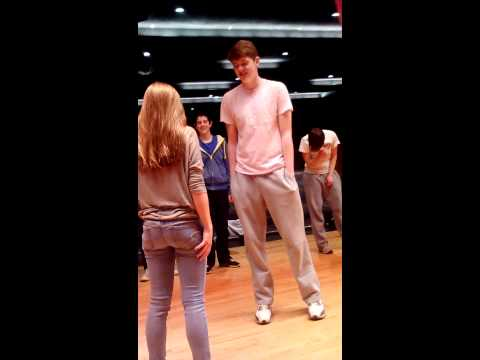 Boy asks girl to prom during drama club practice