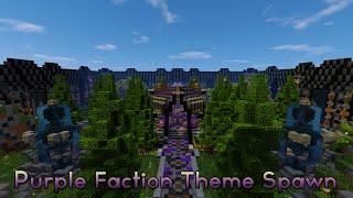 Minecraft - Faction Spawn + Shop | Purple Themed [Schematic + Download]