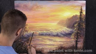 *NEW* Sunset Seascape | Paint with Kevin ®