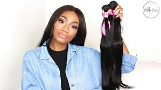 AFFORDABLE ALIEXPRESS HAIR   FASHOW HAIR INITIAL REVIEW • MALAYSIAN STRAIGHT BUNDLES!