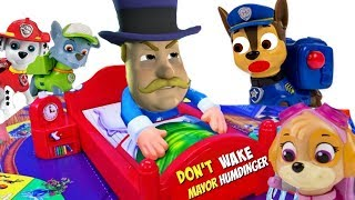 Paw Patrol Play Don't Wake Mayor Humdinger Game