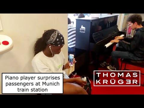 WOW Amazing Piano Player surprises Passengers at Munich Central Station Thomas Krüger