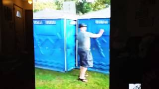 Ridiculousness-Trashed guy can't find door on outhouse